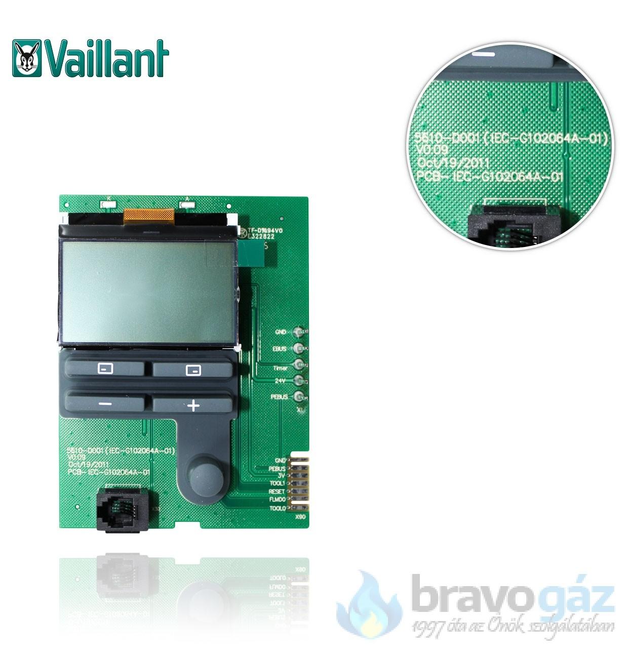 Vaillant LCD kijelző Ecotec/5INTII 0020136629
