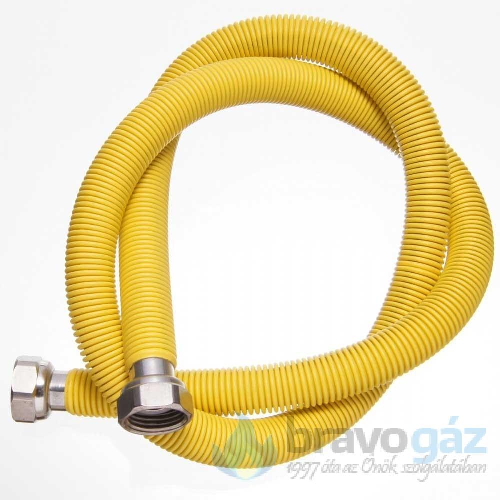 Rozsdamentes nyújtható gáz flexibilis cső 1/2˝-1/2˝ BB 500-1000mm
