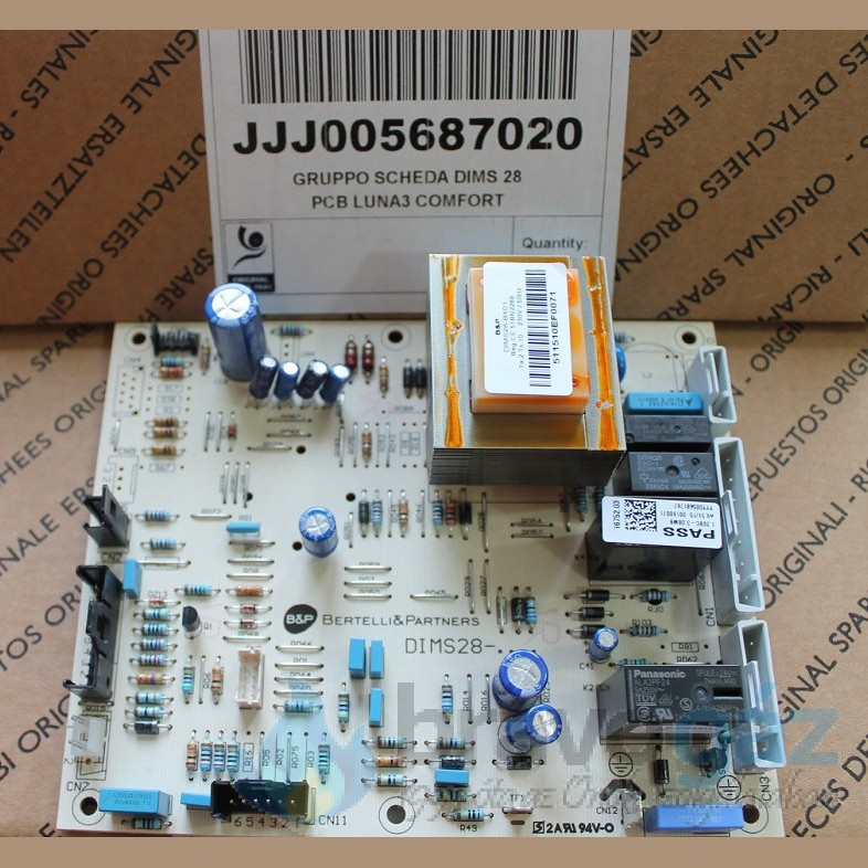BAXI vezérlőpanel B&P DIMS 28 LUNA3 COMFORT - JJJ005687020