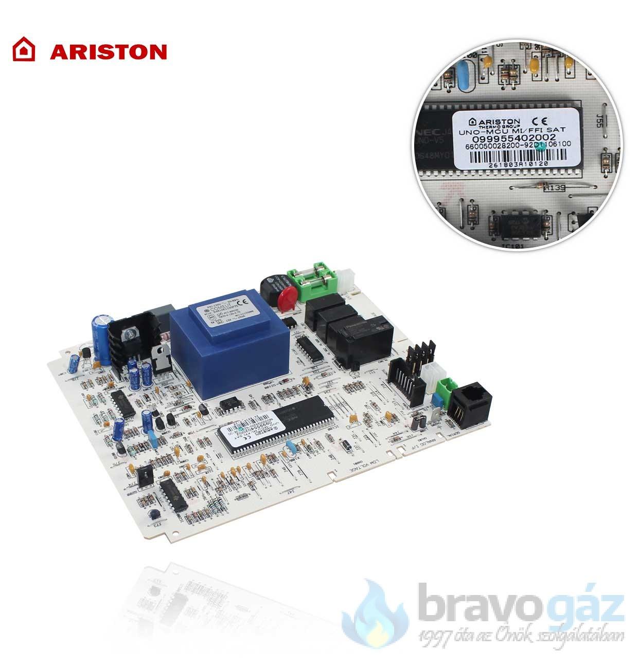 Ariston vezérlő panel - 65100729