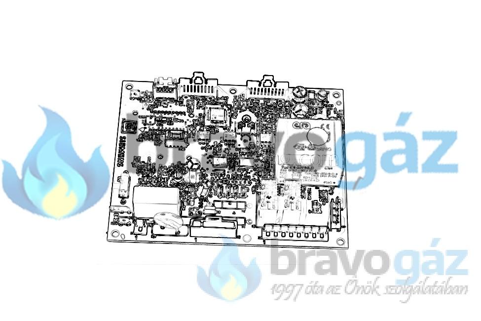 BAXI vezérlőpanel NUVOLA3 COMFORT készülékekhez, LMU34 SIEMENS - JJJ005697190
