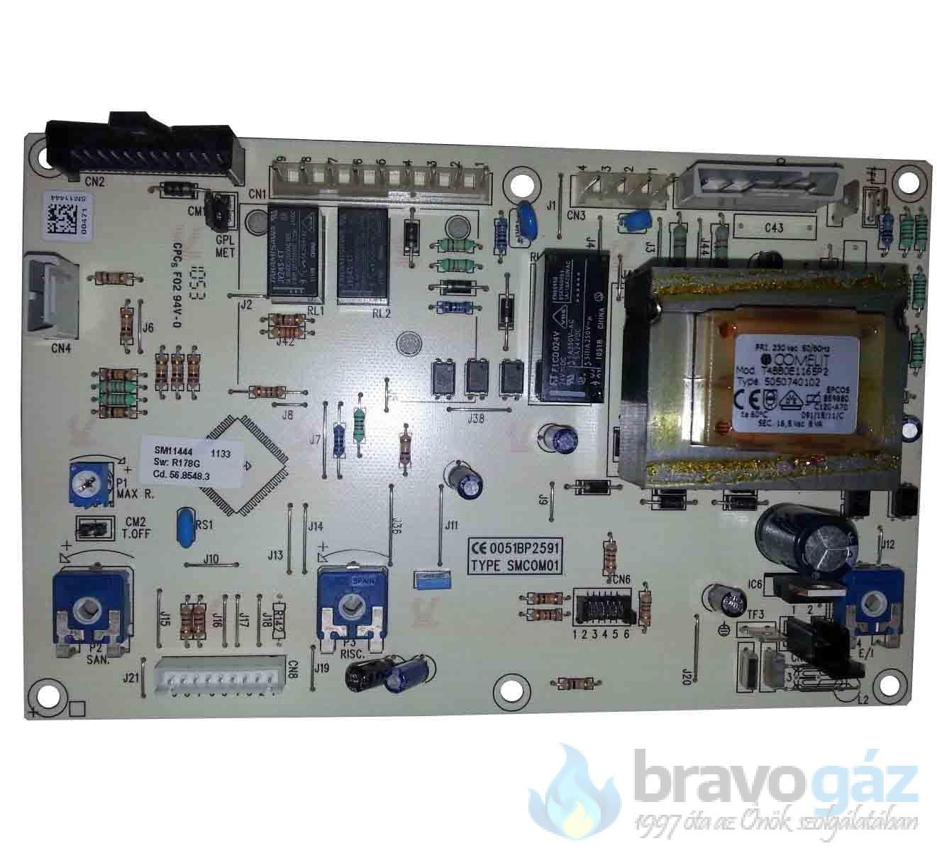 BAXI vezérlőpanel HONEYWELL STEP MOTOR (Régi: 5668020, 5669660) - JJJ005685480