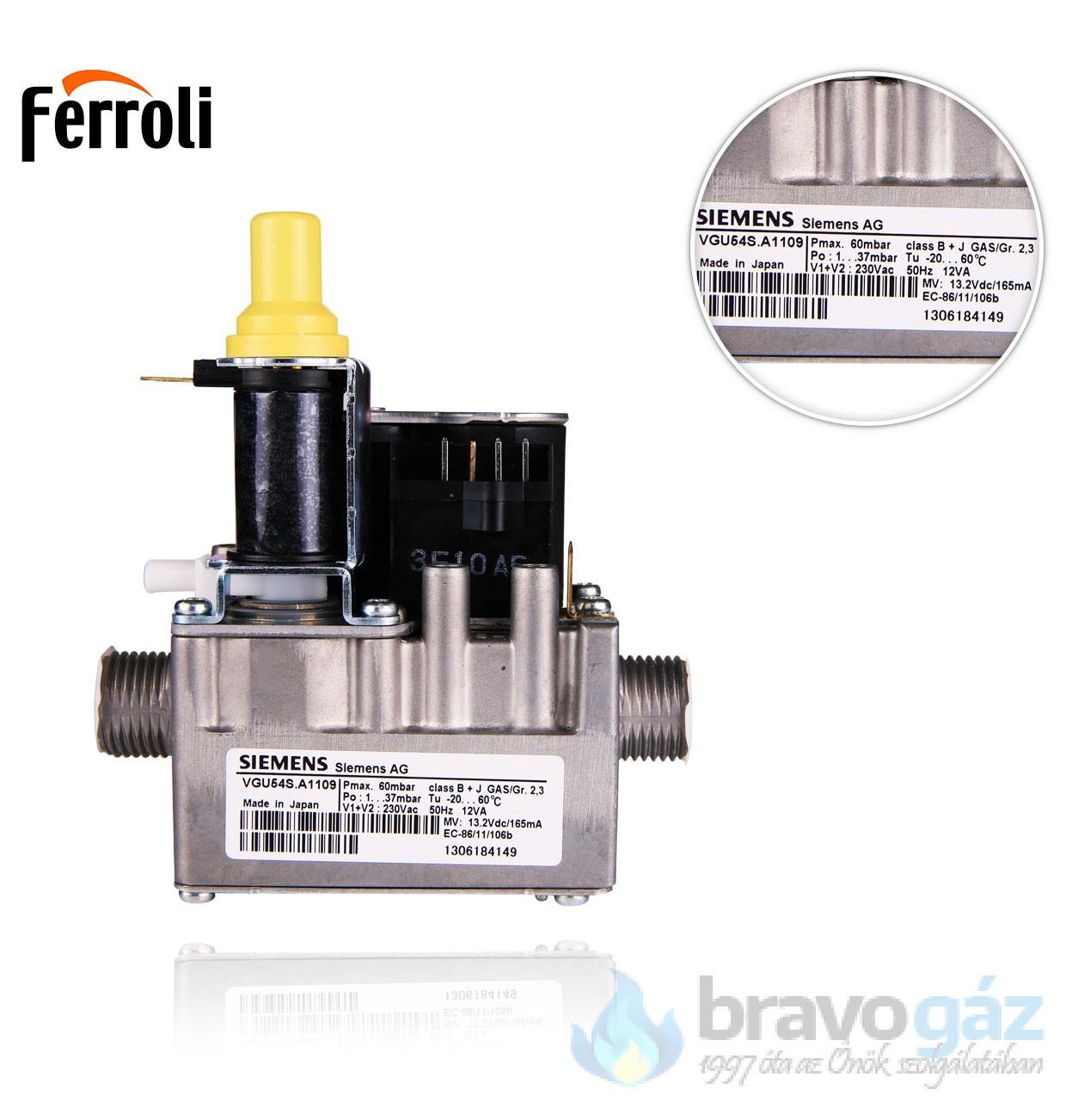 Ferroli gázszelep Domicompact VGU54A1109
