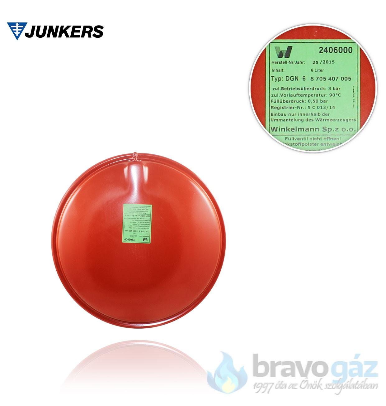 Bosch tágulási tartály 6l - 87054070050