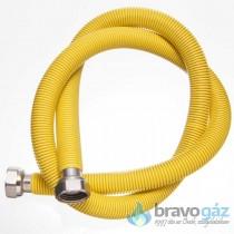 Rozsdamentes nyújtható gáz flexibilis cső 1/2˝-1/2˝ BB 1000-2000mm