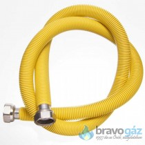 Rozsdamentes nyújtható gáz flexibilis cső 1/2˝-1/2˝ BB 300-600mm