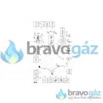 BAXI ventilátor nyomásszabályzó cső D3.5x7x600 - JJJ005402270