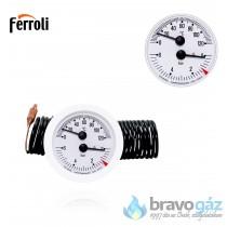Ferroli nyomás és hőmérő óra Tantaqua